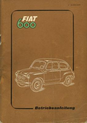 Fiat 600 Bedienungsanleitung 1955