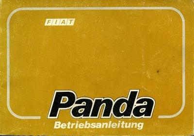 Fiat Panda Bedienungsanleitung 1986