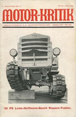 Motor-Kritik 1930 Heft 12