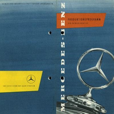Mercedes-Benz Programm ca. 1956