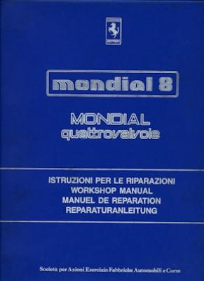 Ferrari Mondial 8 Reparaturanleitung 1981