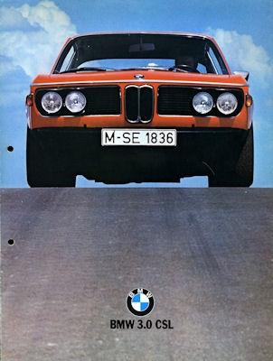 BMW 3.0 CSL Prospekt 9.1972