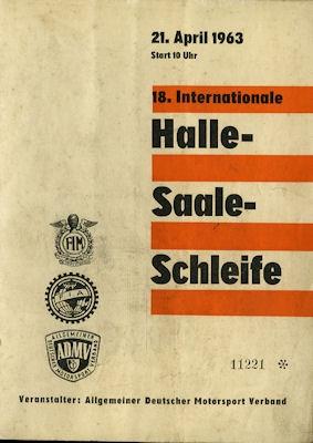 Programm Halle-Saale-Schleife 21.4.1963