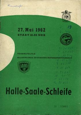Programm Halle-Saale-Schleife 27.5.1962