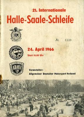 Programm Halle-Saale-Schleife 24.4.1966