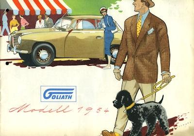 Goliath Pkw Programm 1954
