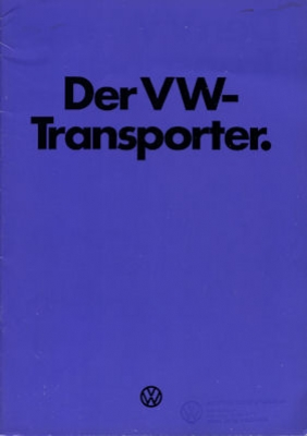 VW T 2 Transporter Prospekt 1974