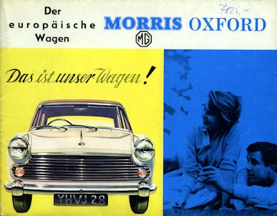 Morris Oxford Prospekt ca. 1961
