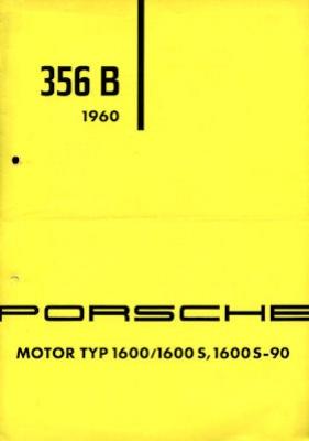 Porsche 356 B Motor Prospekt 1960