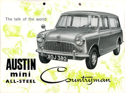 Austin Mini Countryman All-Steel Prospekt ca. 1960 e