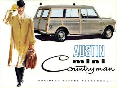 Austin Mini Countryman Prospekt ca. 1960 e