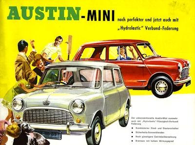 Austin Mini Prospekt ca. 1965