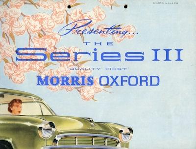 Morris Oxford Serie III Prospekt 1957