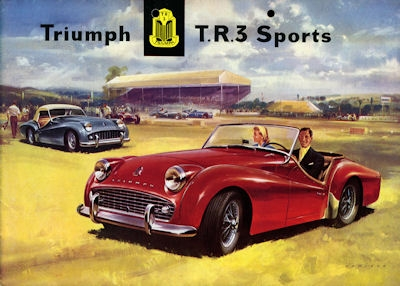 Triumph T.R.3 Sports Prospekt 1958