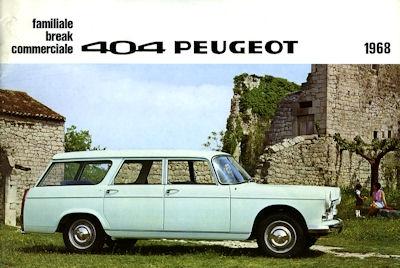 Peugeot 404 Kombi Prospekt 1968