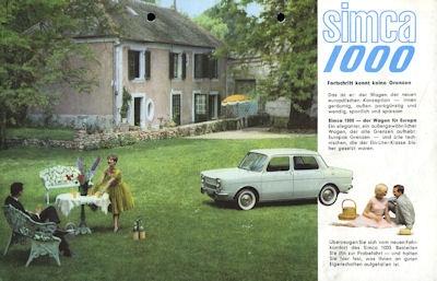 Simca 1000 Prospekt 1960er Jahre
