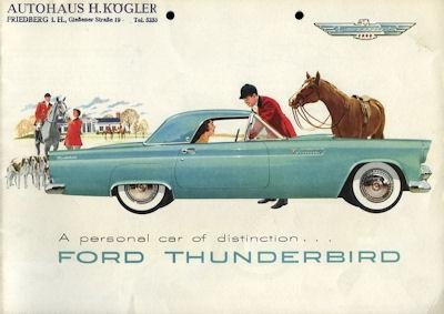 Ford Thunderbird Prospekt 1955 e