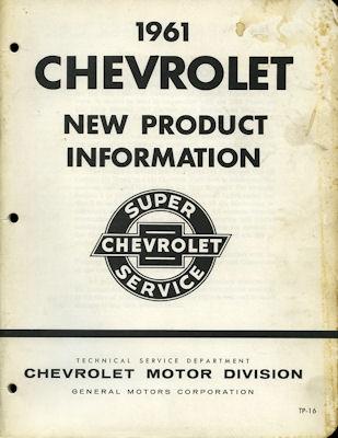 Chevrolet Reparaturanleitung 1961 e