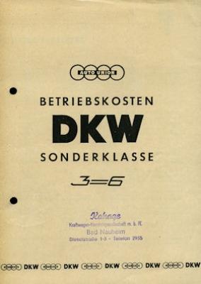 DKW Sonderklasse Prospekt ca. 1955