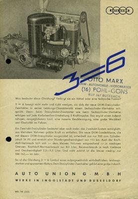 DKW 3=6 Prospekt 1953