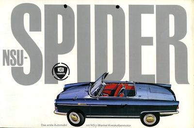 NSU Spider Wankel Prospekt 1963