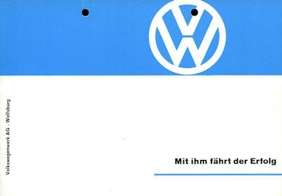 VW Programm ca. 1962
