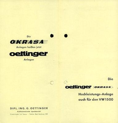 VW Oettinger / Okrasa Prospekt ca.1963