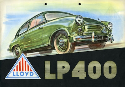 Lloyd LP 400 Prospekt ca. 1955