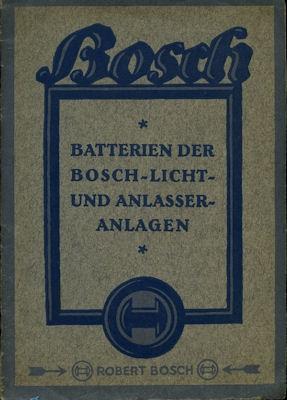 Batterien der Bosch Licht- und Anlasser Anlagen 1.1925