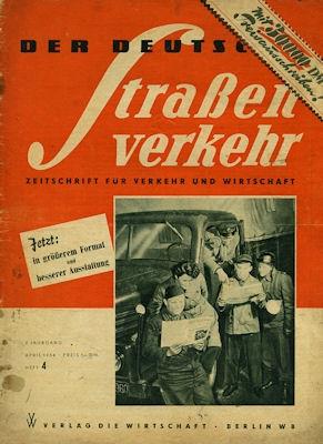 Der Deutsche Straßenverkehr 1954 Heft 4