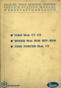 Vespa Ciao / Boxer Reparaturanleitung 1972