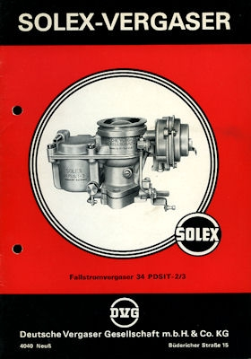 Solex Vergaser Type 34 PDSIT -2/3 7.1968