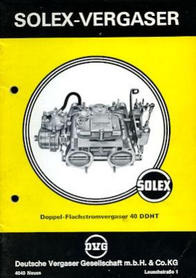 Solex Vergaser Type 40 DDHT 1973