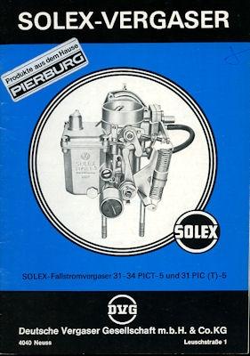 Solex Vergaser Type 31-34 PICT -5 + 31 PIC(T) 1977