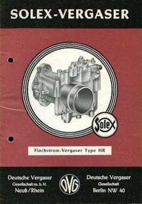 Solex Vergaser Type HR 1.1955