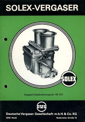 Solex Vergaser Type 40 CCI 1970