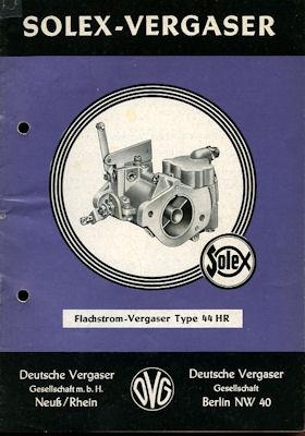 Solex Vergaser Type 44 HR 11.1956