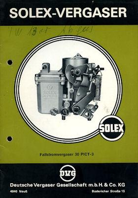 Solex Vergaser Type 30 PICT -3 8.1969