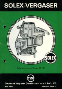 Solex Vergaser Type 32 + 34 PCI ca. 1960