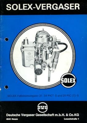 Solex Vergaser Type 31-34 PICT -5 + 31 PIC(T) 1975