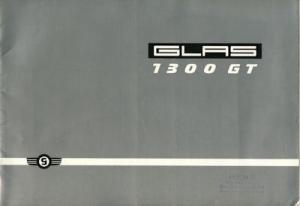 Glas 1300 GT Coupe / Cabriolet Prospekt 1965