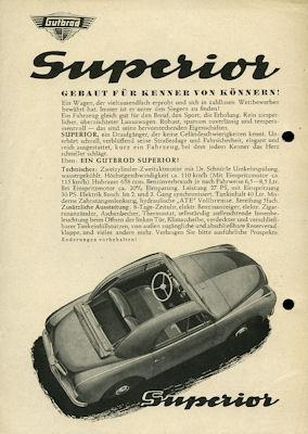 Gutbrod Superior / Superior Kombi Prospekt ca. 1953/54