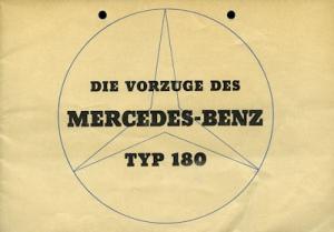 Mercedes-Benz 180 Prospekt 5.1954
