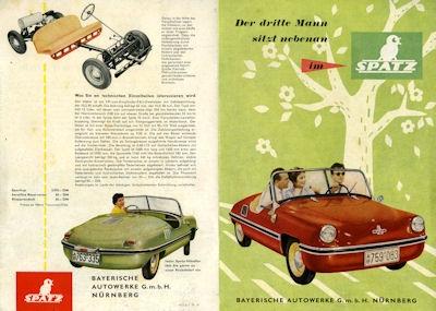 Spatz Kleinwagen Prospekt 9.1957