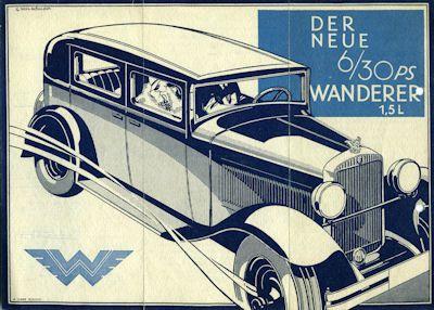 Wanderer 6/30 PS Prospekt 8.1930