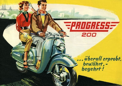 Progress 200 ccm Roller Prospekt ca. 1955