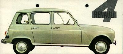 Renault 4 Prospekt 1962
