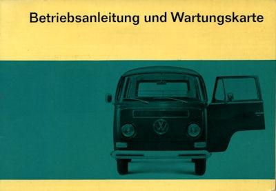 VW T 2 Bedienungsanleitung 8.1967