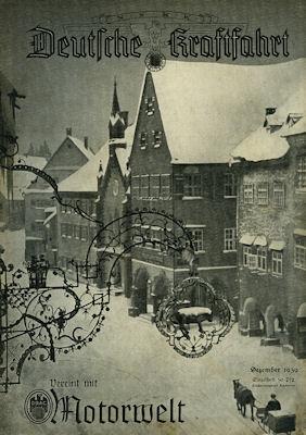 Deutsche Kraftfahrt 1939 Dezember