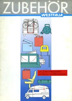 VW T 3 Westfalia Zubehör Prospekt 1988